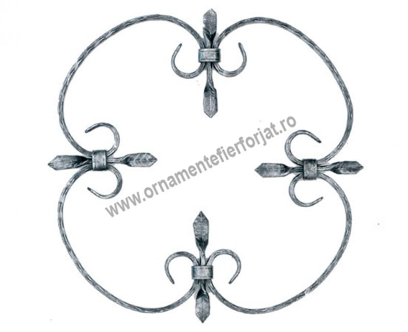 Ornament central 10-001, 300x300 mm