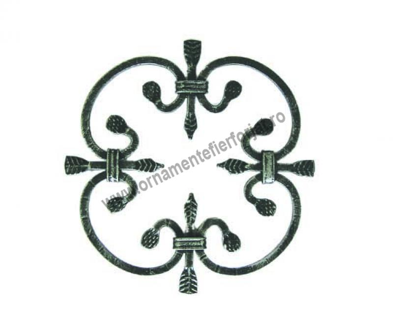 Ornament central 10-010, 250x250 mm